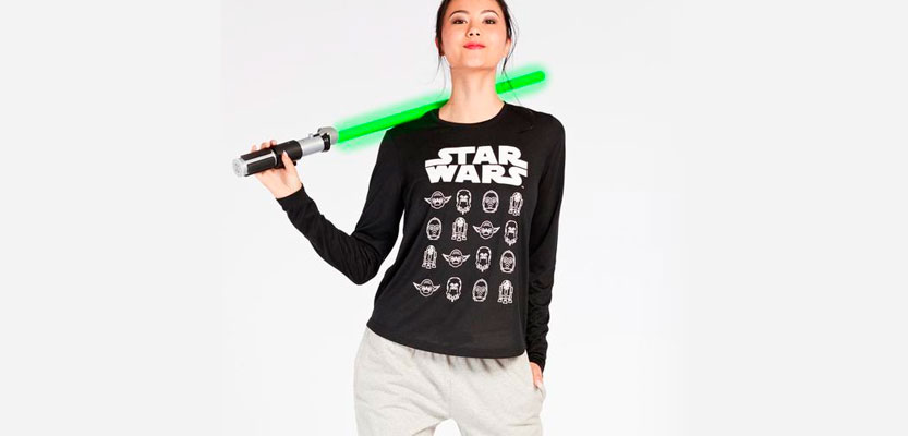 Camiseta negra de Star Wars